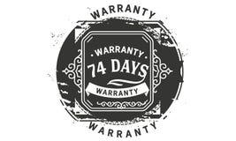vintage del diseño de la garantía de 74 días, la mejor colección de sello ilustración del vector