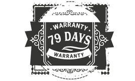 vintage del diseño de la garantía de 79 días, la mejor colección de sello ilustración del vector