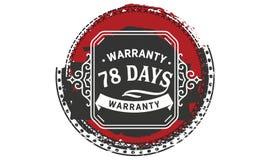 vintage del diseño de la garantía de 78 días, la mejor colección de sello stock de ilustración