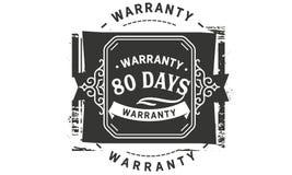 vintage del diseño de la garantía de 80 días, la mejor colección de sello libre illustration