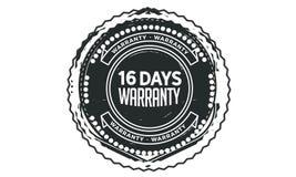 vintage del diseño de la garantía de 16 días, la mejor colección de sello ilustración del vector