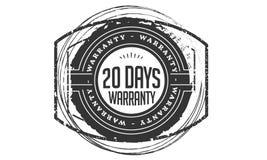 vintage del diseño de la garantía de 20 días, la mejor colección de sello ilustración del vector