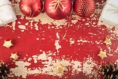 Vintage del fondo de la tarjeta del concepto del Año Nuevo de la Navidad Fotos de archivo