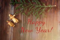 Vintage del fondo del Año Nuevo Fotografía de archivo libre de regalías