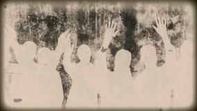 Vintage del Grunge - gente stock de ilustración