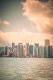 Vintage del horizonte de Miami imagen de archivo