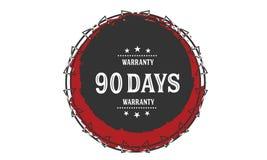 vintage del icono de la garantía de 90 días Fotos de archivo libres de regalías