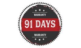 vintage del icono de la garantía de 91 días Fotografía de archivo