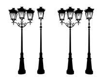 Vintage del icono de las luces de calle - representación 3d fotos de archivo