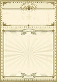 Vintage del marrón del cartel del circo ilustración del vector