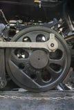 Vintage del rodillo impulsor de la locomotora de vapor (siglo XIX) Imágenes de archivo libres de regalías