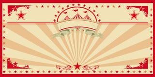 Vintage del rojo de la tarjeta del circo Foto de archivo libre de regalías