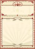 Vintage del rojo del cartel del circo Fotos de archivo libres de regalías