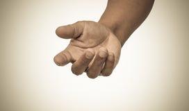 Vintage del tono de la mano amiga foto de archivo libre de regalías