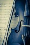 Vintage del violín y del violín Fotografía de archivo