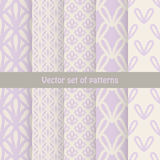 Vintage delicate different vector seamless Royalty Free Stock Photos