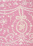 Vintage delicate lace. Closeup of pink and white colored Lace Royalty Free Stock Photography
