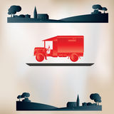 Vintage Delivery Background Stock Image