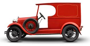 Vintage delivery car stock photos