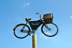 Vintage delivery cycle Royalty Free Stock Images