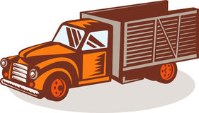 Vintage delivery pick-up truck Royalty Free Stock Photos