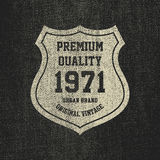 Vintage Denim typography, grunge t-shirt graphics. Stock Image