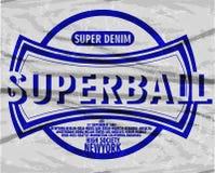 Vintage denim typography, t-shirt graphics, vectors Stock Photo