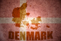 Vintage denmark map Royalty Free Stock Images