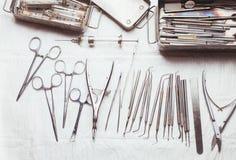 Vintage dental instruments Stock Images