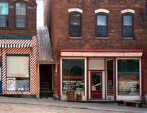 Vintage Depression Era Street Scene Stock Image