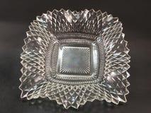 Vintage depression glass trinket dish Stock Photos