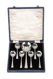 Vintage desert spoon set Stock Images