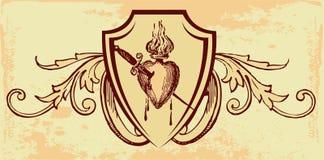 Vintage design. Vintage old emblem in grunge look Vector Illustration
