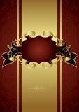 Vintage Design Background. With Ribbon Frame Royalty Free Stock Images