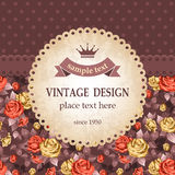 Vintage design Royalty Free Stock Photos
