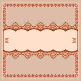 Vintage, design background with decorative horizontal divider Stock Image