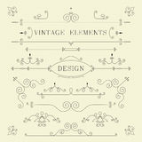 Vintage Design, Borders, Retro Elements, Frame, Stock Photo