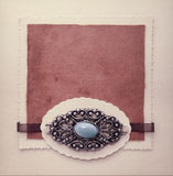 Vintage design card or book cover Royalty Free Stock Photography