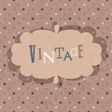 Vintage design card. Vector Royalty Free Stock Photos