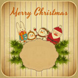 Vintage design of Christmas and New Years Postcard Stock Photo