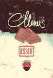 Vintage design dessert menu. Vector illustration. Royalty Free Stock Photography