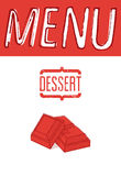 Vintage design dessert menu. Vector illustration. Stock Photos