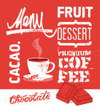 Vintage design dessert menu. Vector illustration. Royalty Free Stock Photography