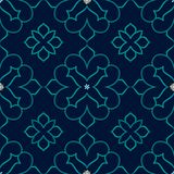 Vintage vector seamless pattern in Eastern style. Royalty Free Stock Image