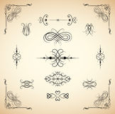 Vintage design element set Royalty Free Stock Image