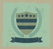 Vintage design element shield and wreath Royalty Free Stock Photography