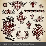Vintage design elements. Collection of vintage borders, frames and ornaments Stock Photo