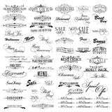 Vintage Design Elements. Illustration of set of vintage design elements for celebration Royalty Free Stock Photos