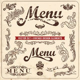 Vintage design elements. Menu. Vintage design elements and page decoration. Restaurant menu design Royalty Free Stock Photography