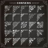 Vintage Design Elements Corners And Borders Set 1 Royalty Free Stock Images